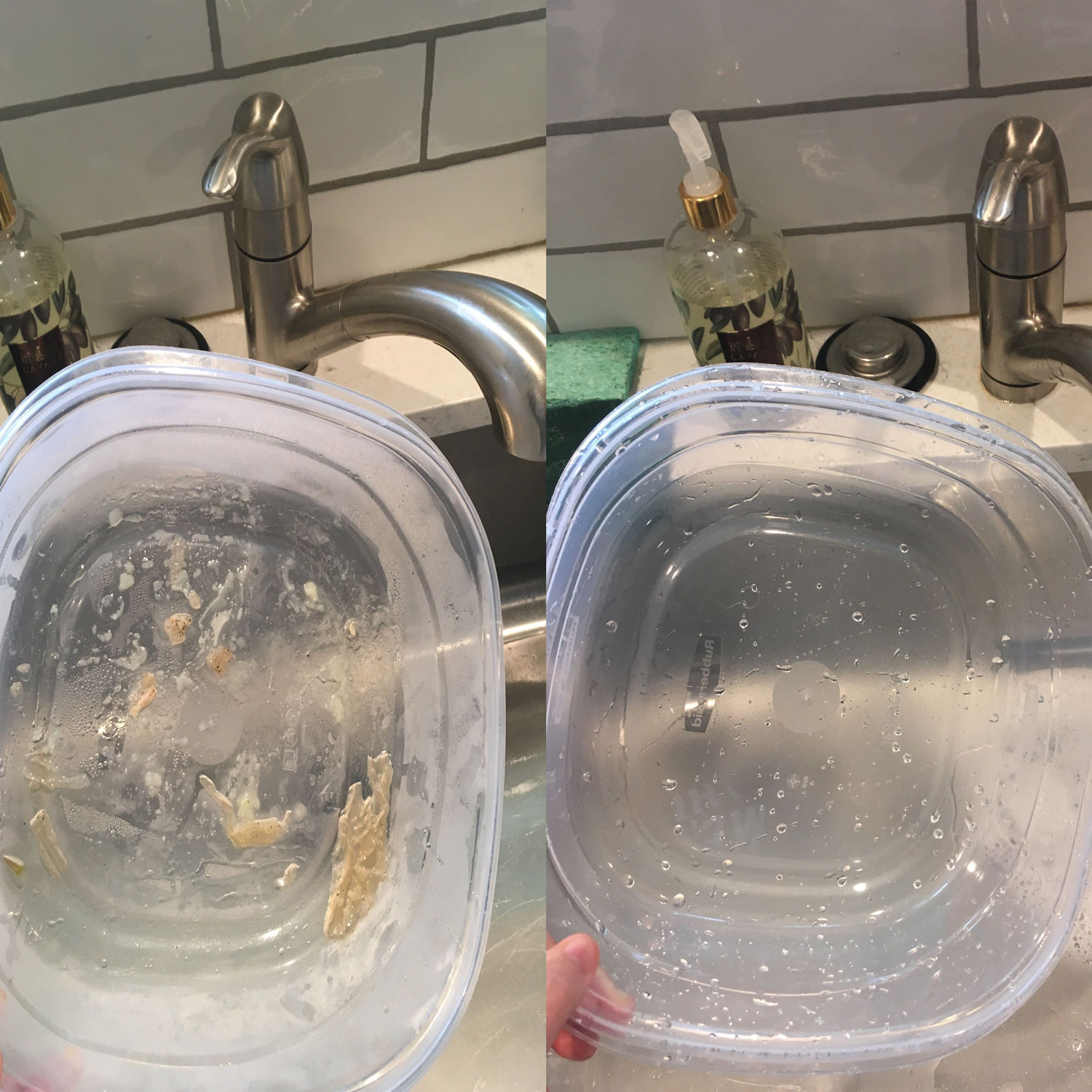We Tried This Viral Hack for Cleaning Greasy Containers—and It Actually Worked