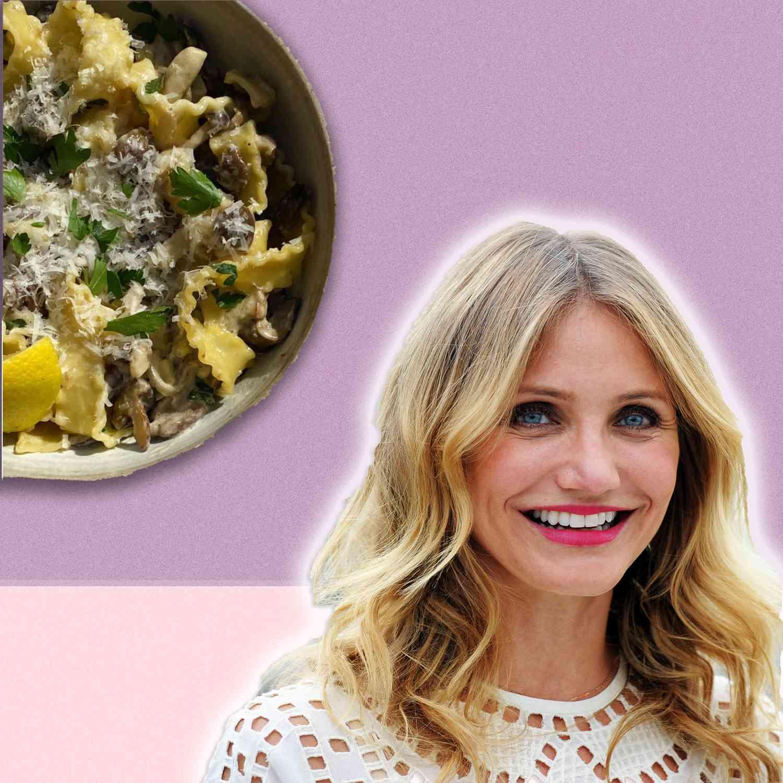 Cameron Diaz's Creamy Mushroom Pasta Is the Epitome of Comfort Food